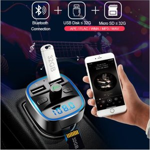 T25 car charger voltage detection Cell Phone FM transmitter hands-free wireless Bluetooth mp3 player for iPhone 12 11 Samsung mobile phones