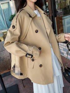 Women's Trench Coats 2021 Korean Version Of Loose Small Fragrance Temperament Short British Coat