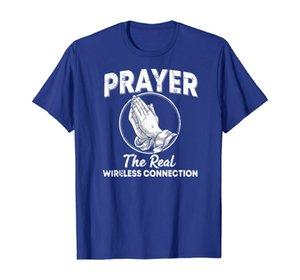 Молитва настоящее беспроводное соединение молятся руками футболка