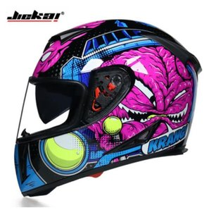 Jiekai motorcycle helmets for men and women to keep warm in winter and four seasons universal full-covered anti-fog double mirror