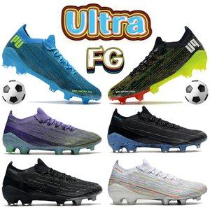 2022 Yeni Ultra 1.2 FG Erkek Futbol Ayakkabı Mor Volt Siyah Beyaz Mutli-Renk Parlak Mavi Pembe Futbol Cleats Erkekler Tasarımcı Çizmeler Sneakers