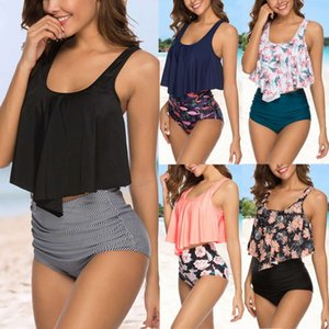 MarchWind Brand Swimwear Women Bikini Mujer High Waist Swimsuits Ruffle Bikinis Swimming Suit For Womens Tankinis Biquini Bathing Suits