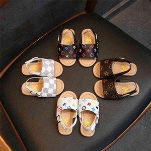 Summer Boys and Girls Kids Sandals Baby Kids Shoes 4 Estilos Slippers Soft Bott Fund Shoes Zapatos de diseñador para niños Shoes GC110