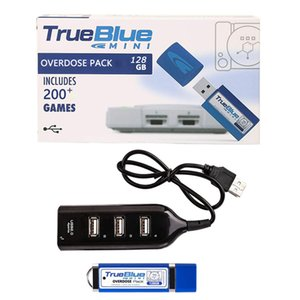 True Blue Mini-Overdose Pack for PlayStation Classic (128GB) can store 203 Games Accessories Hot 2-player games