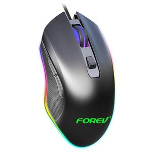 Mice FV-Q7 RGB Wired Gaming Mouse 6 Buttons 6400 DPI Adjustable Ergonomic Optical Computer For Desktop Laptop PC