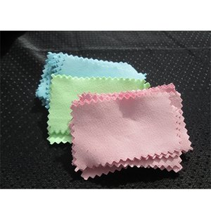 Burnishing 11x7cm Silver Polishing Cloth for silver Golden Jewelry shining Cleaner Black Blue Pink Green colors Best Quality 645 Q2