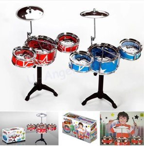 Gift Idea Children Toys Drum Set Boys Girls Play Music Develop Intelligence blue and red for choose +