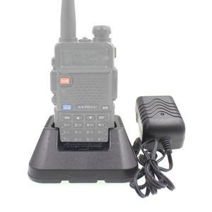 Walkie Talkie Original Charger For BAOFENG UV-5R DM-5R UV-5RA UV-5RB Series Two Way Radios Power Adaptor And Desktop BL-5 Li-ion Battery