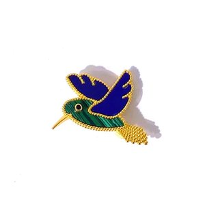 2021 Exquisite Fashion Pigeon Cardigan Four Leaf Clover Pins Brooch Personality Color Shell Agate for Women&Girls Valentine's Mother's Day Engagement Jewelry Gift
