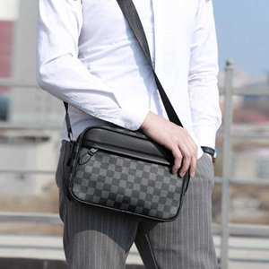Children's Boys One Shoulder Crossbody Pack Fashion Plaid IPad Sports HandBag Portable High-volume Zippers Briefcase Messenger Bag Gifts G962TAW