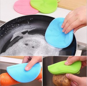 متعددة الوظائف مطبخ غسل الصحون فرشاة سيليكون آمنة غير عصا المواد الدهنية مناديل مناديل العزل الحراري الوقايات فرش الأواني والأوعية للتنظيف المنزلية