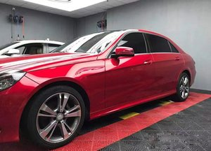 Premium Paint Metallic Blood Red Vinyl Wrap Roll with Air Release Technology DIY Easy to Install Self-Adhesive