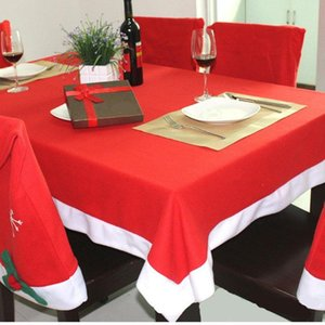Packaging Dinner Service 132*208CM Christmas Party Time Red Disposable Tablecloths House Dining Table DIY Clothes Decoration