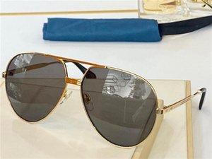 0907s أزياء الصيف نمط التدرج عدسة نظارات uv 400 حماية للرجال والنساء خمر الضفدة مرآة إطار معدني أعلى جودة تأتي مع حالة الكلاسيكية النظري