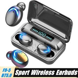 Écouteur Bluetooth Bluetooth F9-5C TWS 5.0 Écouteurs Touch Écouteurs Écouteurs 9D Stéréo Sport Musique Étanche Casque d'affichage à LED avec batterie de la banque d'alimentation