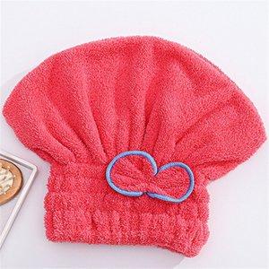 Venta al por mayor- Textil cómodo útil Microfibra seca Turban Rápido Pelo Sombreros Envolver Toallas Tapas de baño Cap Cap de ducha 362 R2