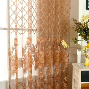 Curtain & Drapes Simple Modern Soft And Comfortable Polyester European Lily Half Shade Rotten Yarn Balcony Gauze