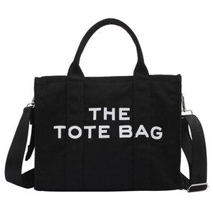 Women Handbag Large Canvas Tote Women Shoulder Bag Cloth Shopper 2021 Letter Printing Crossbody Ins