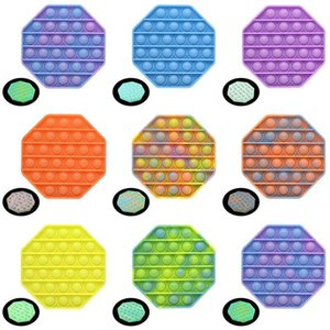 Fluorescen Push Pop Fidget Toy Sensory Push Bubble Fidget Sensory Autism Special Needs Anxiety Stress Reliever for Office Workers