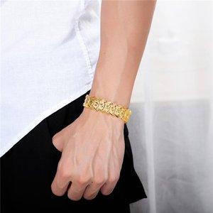 Korean Fashion YSM B407 Jewelry 2021 Trend Copper Alloy 24K Gold Men Bracelet Holiday Gift Ornaments Link, Chain