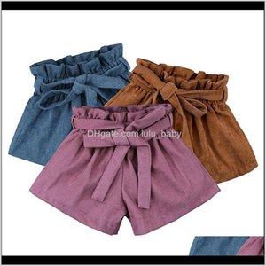 Baby Corduroy Bow Children Ruffle Pp Pants Kids Ins Summer Bread 3 Colors Z1423 Kzudx 1Yodu