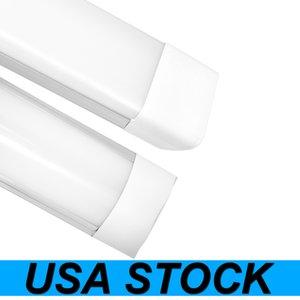 USA Stock 3ft Shop Light Fixture 48W LED Tube Lights 4800lm 6000K 4000K 3000K 3 color temperatures Lightss 120cm Garage Closet Lighting for Office Home Basement
