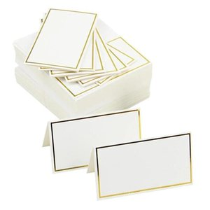 Greeting Cards 50pcs Place Wedding Party Decoration Table Decor Name Message Card Event Supplies Seating