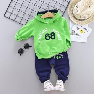 Spring Clothing Sets Kids designer clothes casual sportswear boys and girls hoodies long-sleeved pants two-piece autumn thin section 0-4Years