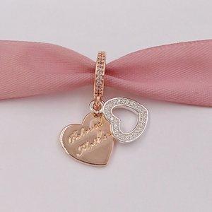 925 Стерлинговые серебряные бусины любимый мать подвесной подходит для европейских ювелирных украшений в стиле пандоры ожерелье 781883CZ