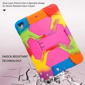 Tablet Cases , full body protection, high quality soft silicone cover, with adjustable bracket, suitable for Pad 5 6th Generation Case,iPad 9.7