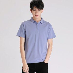 2021 New Slip Summer Summer Gepel Menswear Polo solido grande manica corta casual manica corta
