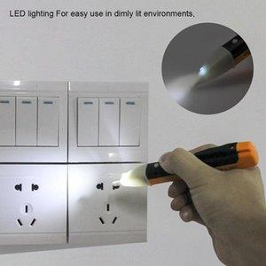 Elektrik Göstergesi 90-1000 V Soket Duvar AC Güç Çıkış Gerilim Dedektörü Sensörü Test Cihazı Kalem LED Işık Hediye