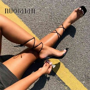 Summer Pumps Sexy Gladiator Sandals Shoes Women PVC High Heels Open Toe Sandal Lady Ankle Strap Pump Size 35-42 210910