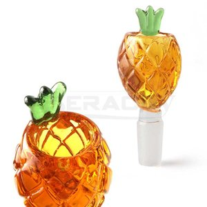 DHL!!! Beracky Pineapple Glass Smoking Bowl 14mm Male Colored Heady Bong Bowls Piece For Water Bongs Dab Rigs Pipes