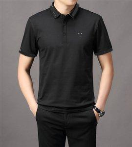 2021 브랜드 스트리트 럭셔리 봄 여름 남성용 폴로 셔츠 자수 캐주얼 고품질 T 셔츠 편지 아래쪽 칼라 탑스