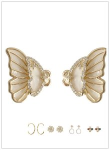 S925 Baroque Stud Earrings Luxury Premium charm Exaggerated Crystal Jewelry 0801