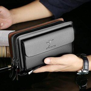2021 الرجال المحفظة مخلب حقيبة الفتيان بو الجلود الفاخرة محفظة سعة كبيرة الأعمال المنظم الهاتف المال حامل بطاقة الجيب الذكور