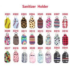 Hand Sanitizer Bottles Holder Keychain Bags Key Rings Party Favor Soap Bottle Holders Neoprene 12*6CM