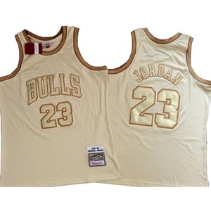 basketball jerseys Men Michael Jordon commemorative System of fiyellow closely embroidered jersey 23