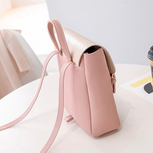 Outdoor Bags Womans Color Collision Small Backpack Retro Style Student Daily Bag JS24