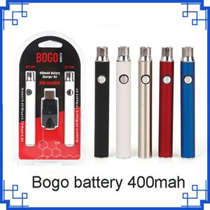 Bogo 400mAh Vape twist Battery USB Charger Double kit Oil Cartridge Batteries For 510 cartridges Pen vs Brass Knuckles cookies
