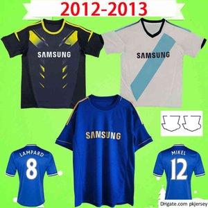 2012 2013 retro fußballtrikots vintage retro torres mata lampard david luiz terry 12 13 fußball hemd uniformen klassisch blau hause weiß weiß