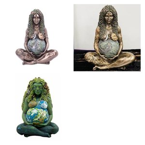 2021 Mother Earth Goddess Gaia Decoration Statue Resin Material Crafts Home Living Room Study Art 3 styles