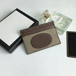 Женщины Luxurys Дизайнеры Сумки 2021 Держатель карты ПВХ Карточко Дервная мастерство, Высокое качество, Полные аксессуары, Оптовая и Розничная Размер: 10 * 7 см