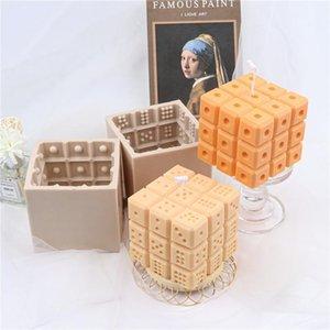 Craft Tools Dice фигуры свеча Форма филе квадратный кубик кристалл эпоксидная смола литьевой комплект Craps Digital Game Fondant Dessert
