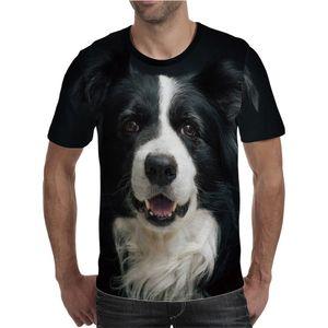 Verano Nuevo Hombres Interesante Animal Perro Casual 3D Impreso Tshirt Mens Casual Street Cuello redondo Manga corta Camisetas Jersey
