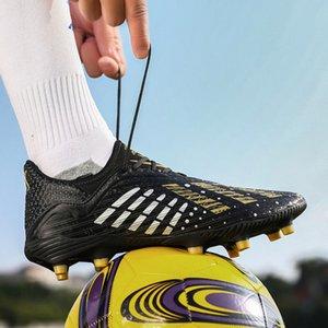 2019 новый C luo длинный гвоздь 808 футбол противоскользящая износостойкая удобная мягкая имитация сторона Spike Shoes T6AR