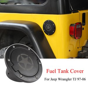 Black Gas Cap Fuel Tank Cover For Jeep Wrangler TJ 97-06 Auto Exterior Accessories Five-pointed star