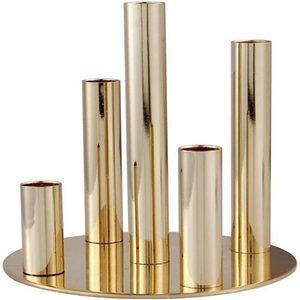 Держатели свечи Золото для конических свечей, металлические 5 овощи канделябры подсвечников держатель центральных частей свадебный ужин стол Decorati