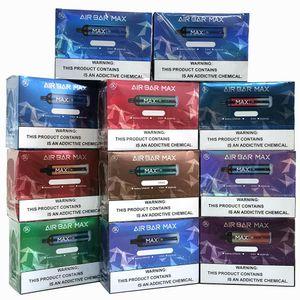 MOQ 10PCS Air Bar Max Disposable E Cigarette 2000 Puffs Vape 1250mAh Battery 6.5ml Pod 12 Colors Electronic Cigarettes